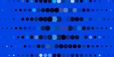 mörkblå vektormall med cirklar. vektor