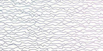dunkelrosa, blauer Vektorhintergrund mit trockenen Linien.