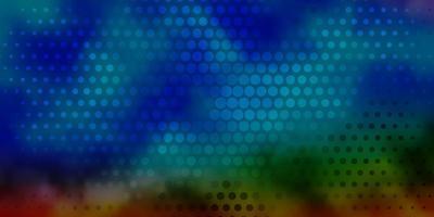 dunkle mehrfarbige Vektorschablone mit Kreisen.