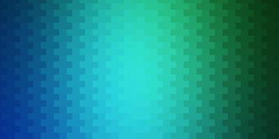 hellblaue, grüne Vektorschablone mit Rechtecken.