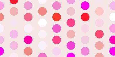 ljusrosa vektor bakgrund med prickar.