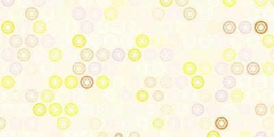 ljusrosa, gul vektorbakgrund med mysteriesymboler.