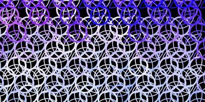 mörk lila vektor bakgrund med mysteriesymboler.