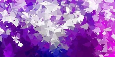 dunkelviolette Vektor Farbverlauf Polygon Tapete.