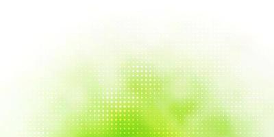 hellgrüne Vektorschablone mit Kreisen.