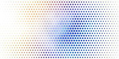 ljusblå, gul vektor bakgrund med cirklar.