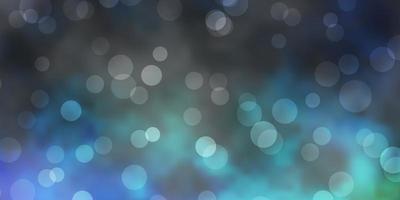 mörkblå, grön vektorbakgrund med prickar.