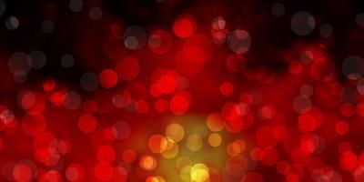 mörk orange vektor bakgrund med prickar.