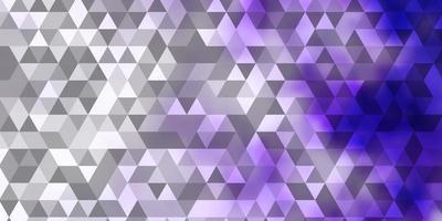 ljuslila vektorbakgrund med trianglar.
