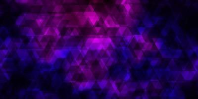 hellviolettes Vektormuster mit Linien, Dreiecken.