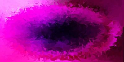 dunkelviolette, rosa Vektor-Poly-Dreieck-Textur.