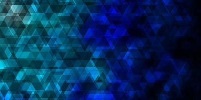 dunkelblaue Vektorschablone mit Linien, Dreiecken.