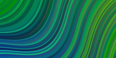 ljusblå, grön vektorbakgrund med cirkelbåge. vektor