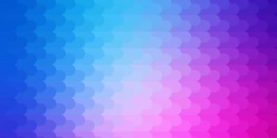 ljusrosa, blå vektor bakgrund med linjer.
