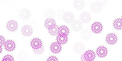 natürlicher Hintergrund des hellrosa Vektors mit Blumen.