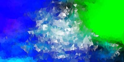 ljusblått, grönt vektor månghörnigt mönster.