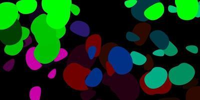 dunkelrosa, grüner Vektorhintergrund mit zufälligen Formen.