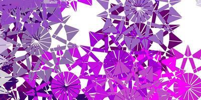 hellrosa Vektorhintergrund mit Weihnachtsschneeflocken. vektor