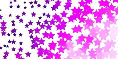 hellrosa Vektorbeschaffenheit mit schönen Sternen. vektor