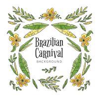 Tropischer und exotischer brasilianischer Hintergrund vektor