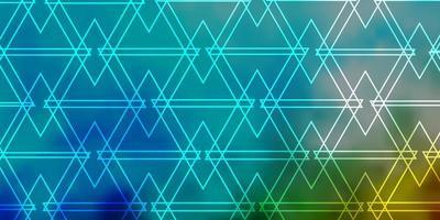 hellblauer, grüner Vektorhintergrund mit Dreiecken. vektor