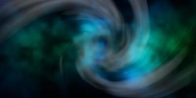 mörkblå, grön vektorstruktur med molnig himmel.