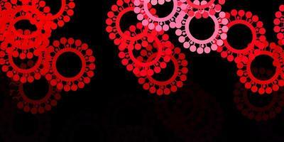 mörkrosa, röd vektormall med influensatecken.
