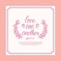 Freie Liebe eine andere Schriftzug Typografie