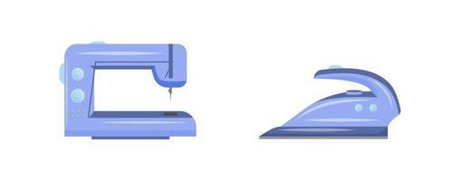 tyg hantverk verktyg platt objekt set vektor