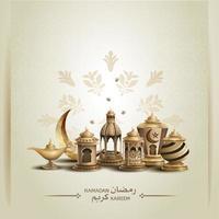 islamische Grüße Ramadan Kareem Karte Design