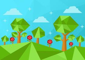 Låg Poly Forest Vector