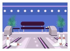 bowling center platt färg vektorillustration vektor
