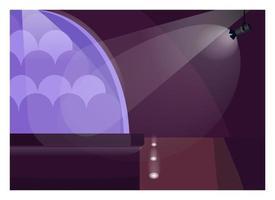 konsert scen platt färg vektorillustration vektor