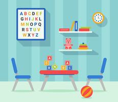 Kinderzimmer Dekor Flat Vektor