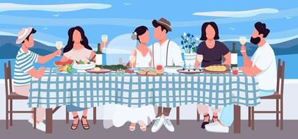 grekiska bröllop platt färg vektorillustration vektor