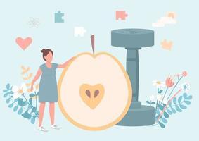 fitness för kvinnor platt koncept vektorillustration