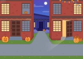 halloween natt platt färg vektorillustration vektor
