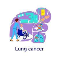 flache Konzeptvektorillustration der Onkologie