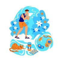 Allergie flache Konzept Vektor-Illustration