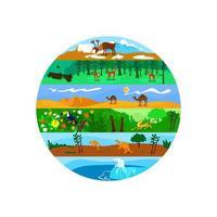 Biodiversität 2d Vektor Web Banner