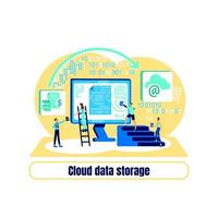 datacenter platt konceptvektor
