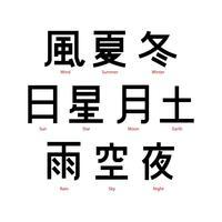 Freier japanischer Buchstabe-Wort-Vektor vektor