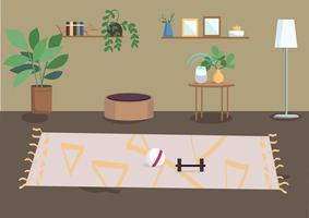 vardagsrum platt färg vektorillustration vektor