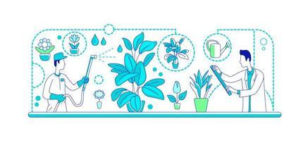växter genteknik platt silhuett vektorillustration