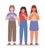 flickavatarer och en med trötthetsvektordesign