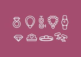 Vektor Jewerly Icon Set