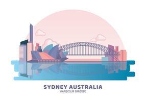Sydney Australien Harbour Bridge vektor