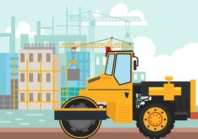 Steamroller för konstruktion vektor