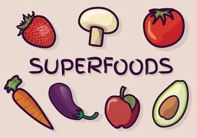 Superfoods-Vektor-Paket vektor
