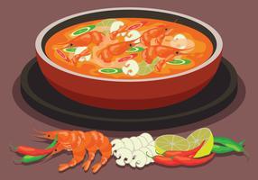 Hotpot ingrediens vektor illustration